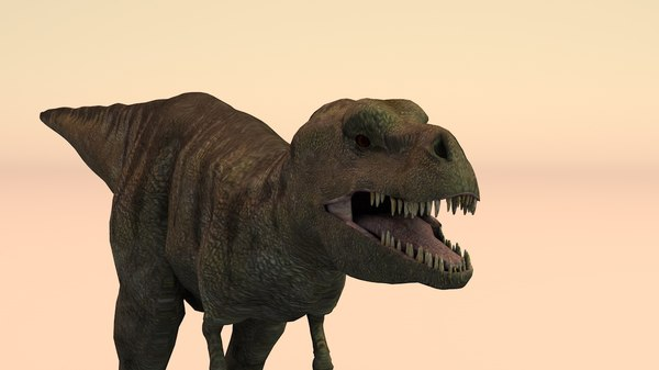 t-rex rigged 3D model