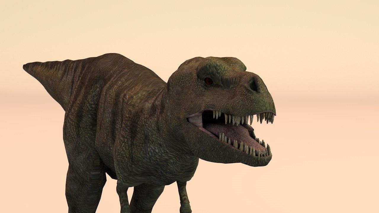 t-rex rigged 3D model