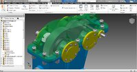 speed reducer gearbox 3D model