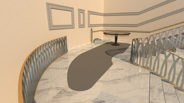 3D stairs arabian geometry model