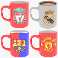 real fc coffee mugs 3D model