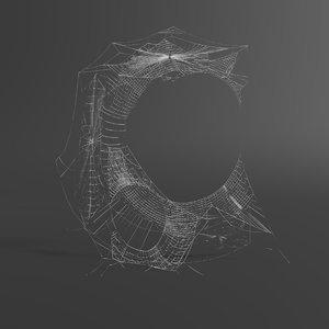 3D web letter c