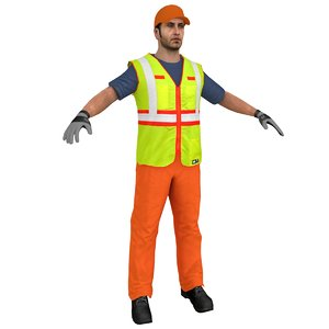 character worker person 3D