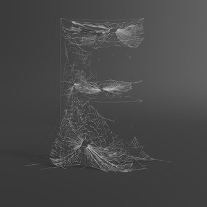 3D model web letter e