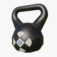 gym kettlebell 3D model
