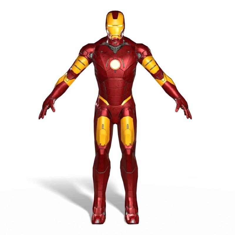 ironman iron man 3D model