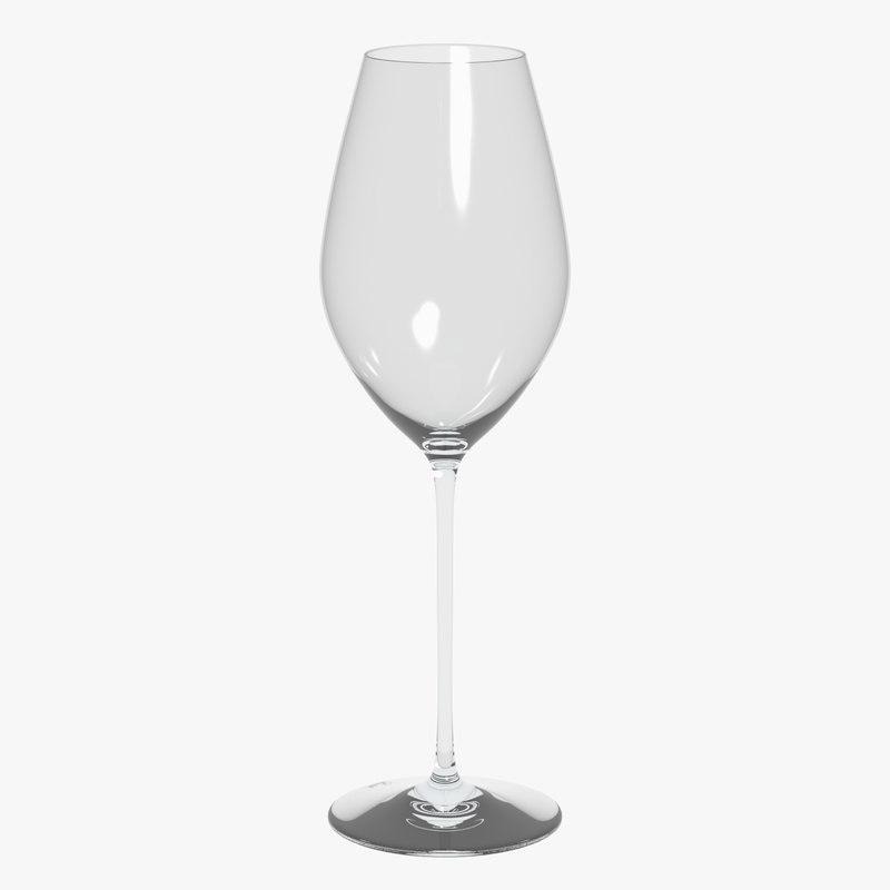 glass riedel superleggero champagne 3D model