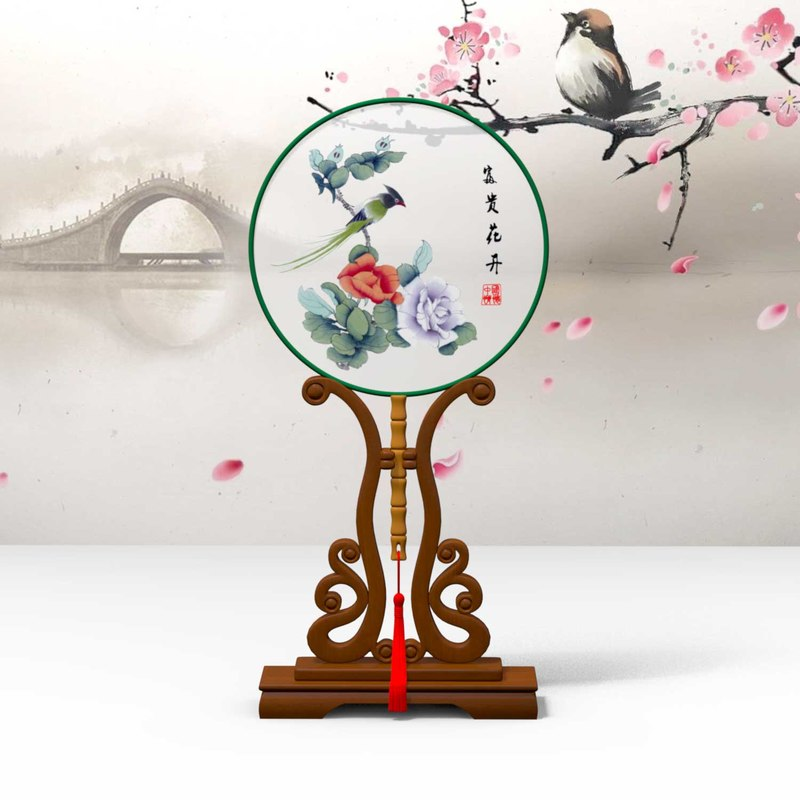chinese traditional fans palace 3D model