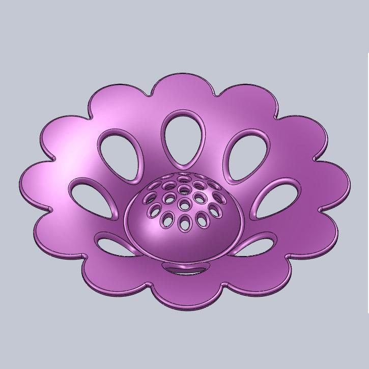 3D plastic flower model