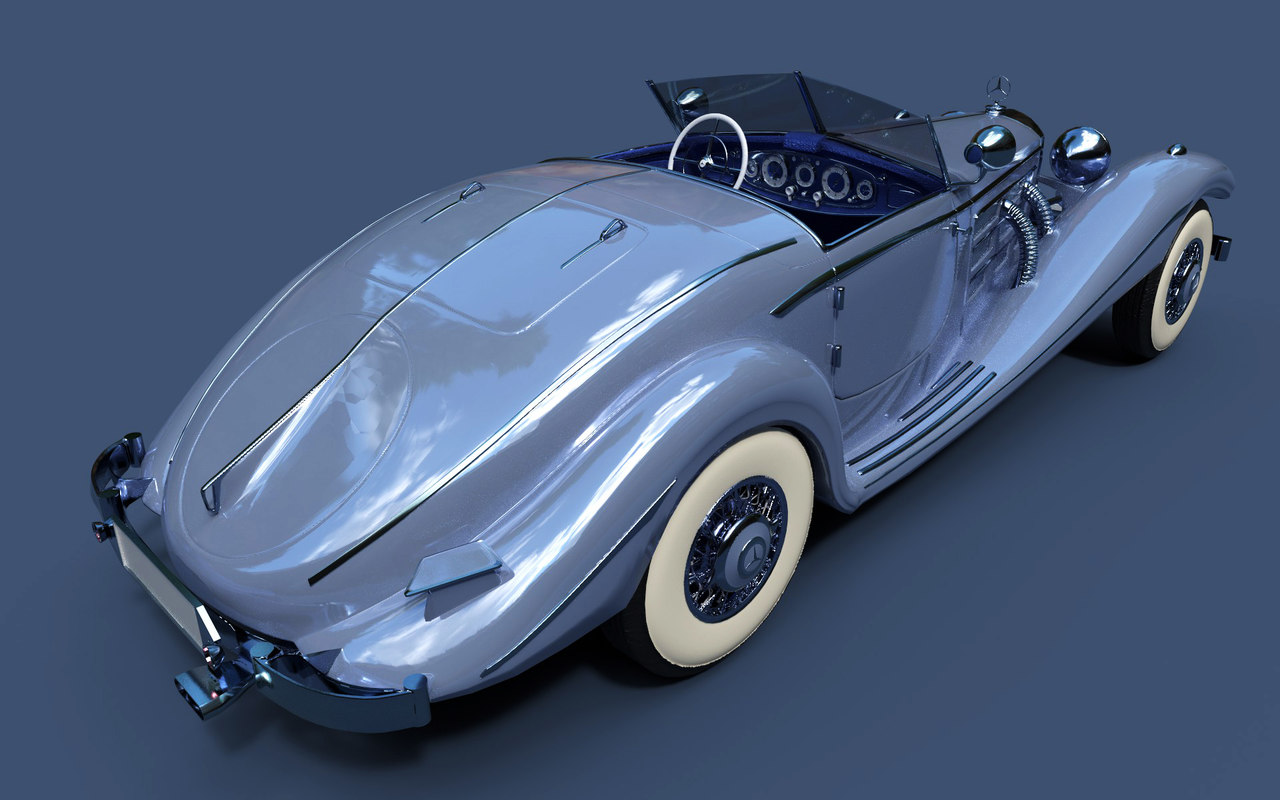 3D mercedes-benz 540k special roadster model