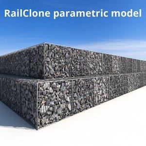 3D railclone gabion