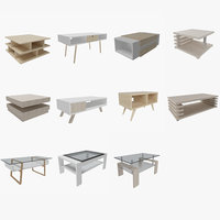 3D contemporary coffee table 1