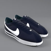 nike cortez basic nylon 3D model