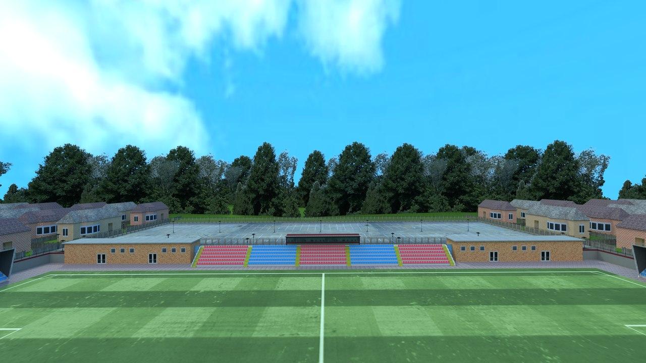 3D model small stadium