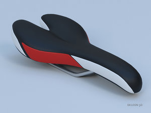 3D bicycle seat model