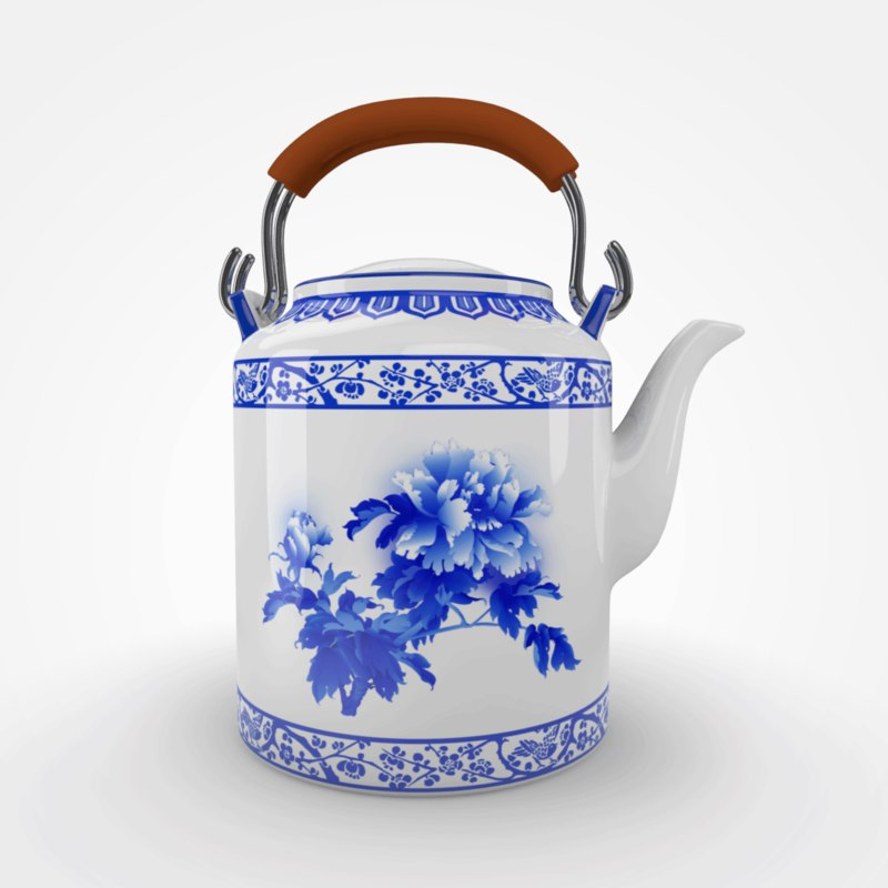 3D traditional chinese ceramic teapot