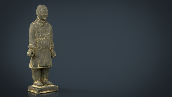 3D terracotta warriors heavily-armed foot