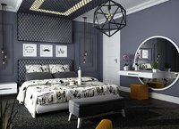 loft bedroom 3D