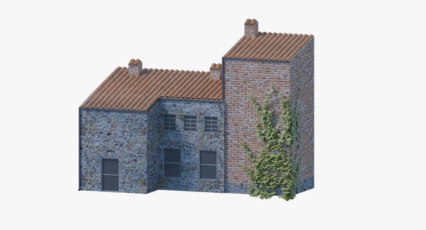 old italian house materials 3D model