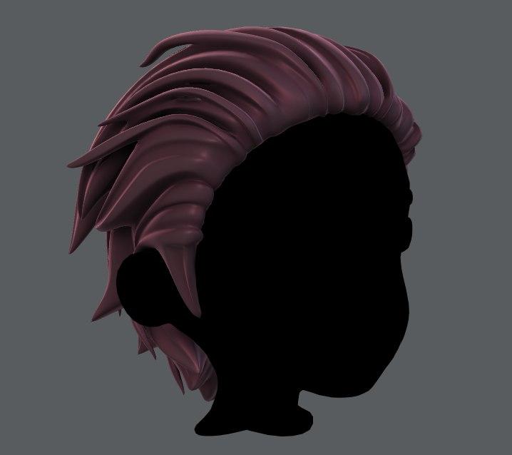 boy hair 3D