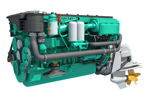 sterndrive engine 3D model