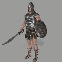3D armor skirt helmet model