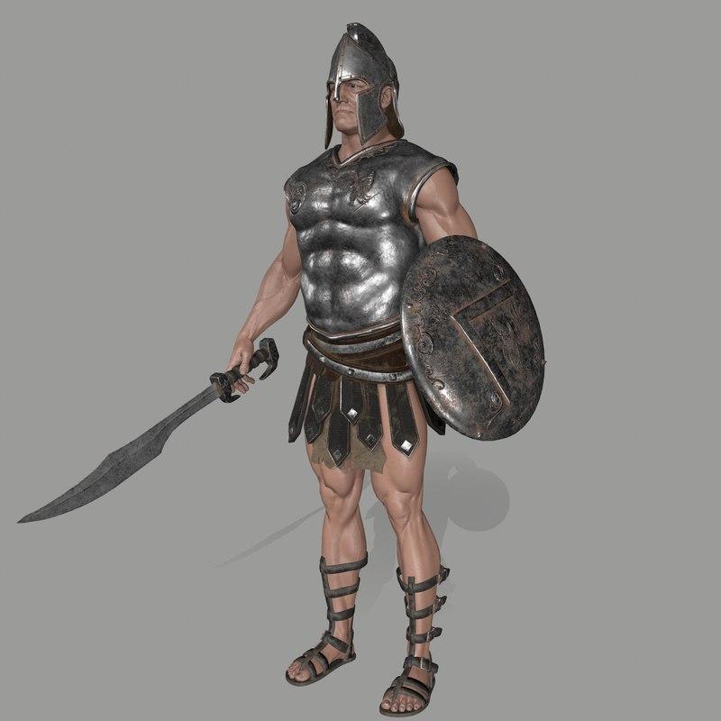 3D armor skirt helmet model