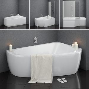 set baths ravak 14 3D model