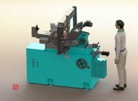 3D automatic loading centerless grinding model