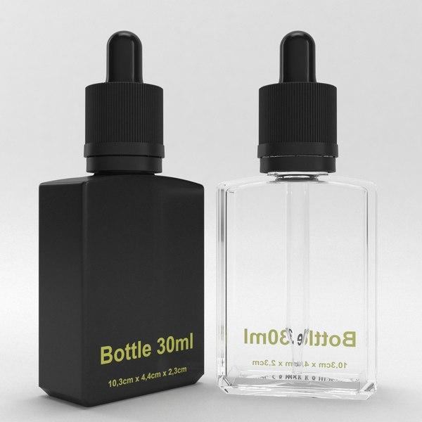 3D model bottle 30ml type5