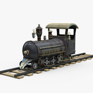 steampunk locomotive 3D model