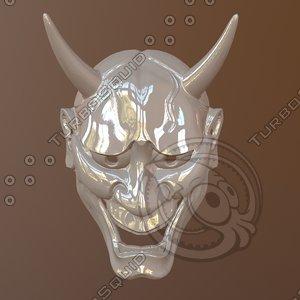 hannya mask 3D model