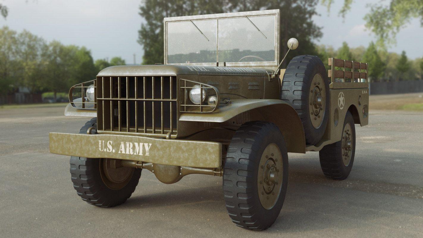 3D military dodgee wc 51 model