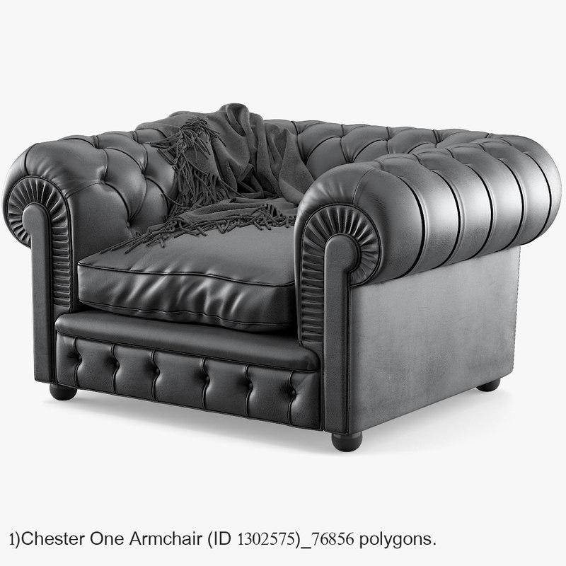 3D chester poltrona frau