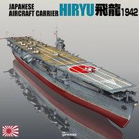 3D japanese hiryu model