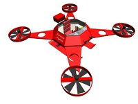vehicles octocopter 3D