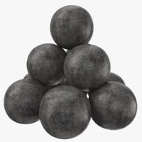 3D cannonballs modeled pbr