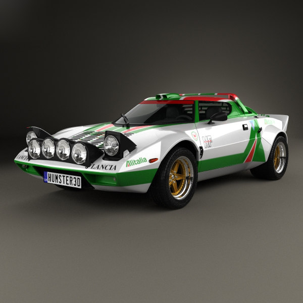 lancia stratos rally 3D model