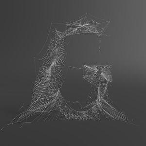 web letter g 3D model