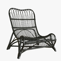Wicker Lounge Armchair House Doctor
