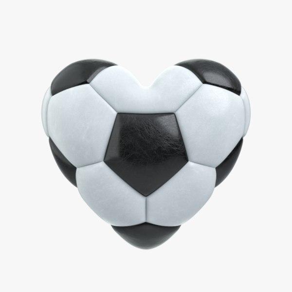 3D soccer heart