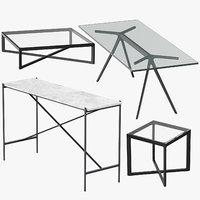 3D modern tables model
