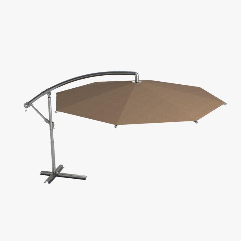 patio umbrella 7 colors 3D