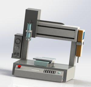 3D desk type glue machine model