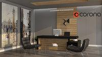 3D model luxury minimalism office