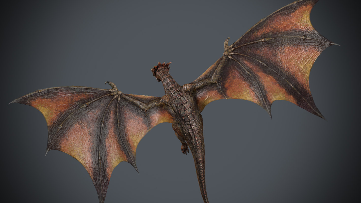 dragon animation 3D model