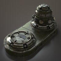 3D science fiction fuel pump model