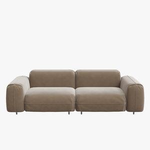 3D model sofa interior section