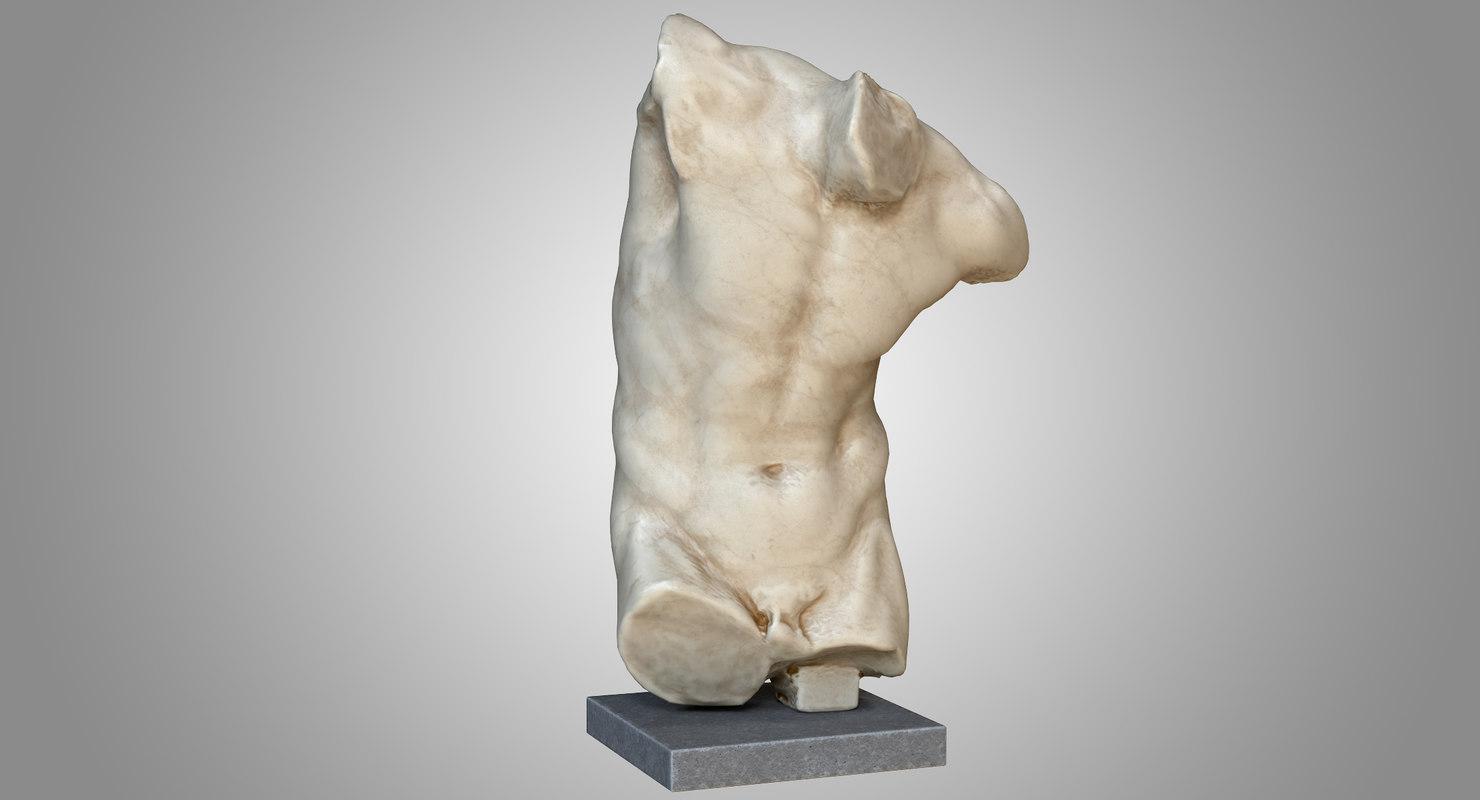 3D fawn torso