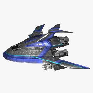 3D scifi fighter model